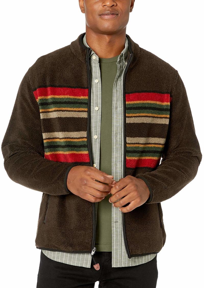 Pendleton Men's Camp Stripe Fleece Jacket Brown LG