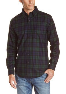 Pendleton Men's Long Sleeve Button Front Fitted Fireside Shirt Black Watch Tartan XX-large