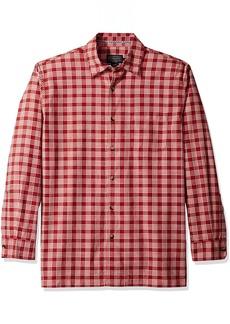 Pendleton Men's Long Sleeve Bonneville Outdoor Shirt Poppy red Plaid LG