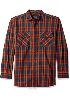 Pendleton Men's Long Sleeve Button Front Burnside Shirt  MD