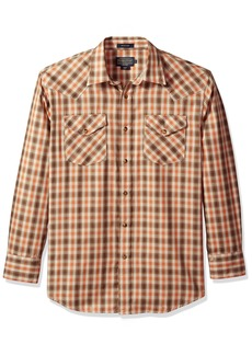Pendleton Men's Long Sleeve Button Front Classic-Fit Herringbone  Frontier Shirt  SM
