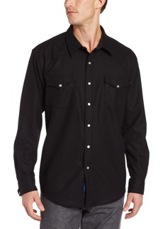 Pendleton Men's Long Sleeve Button Front Fitted Canyon Shirt Black
