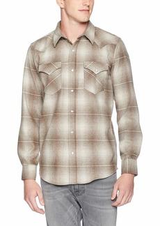 Pendleton Men's Long Sleeve Button Front Fitted Canyon Shirt Santa Clara tan XL