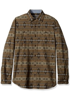Pendleton Men's Long Sleeve Button Front Fitted Kyler Archive Shirt  LG