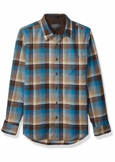 Pendleton Men's Long Sleeve Button Front Fitted Lodge Shirt  LG