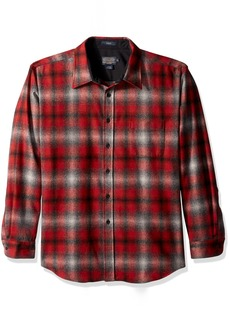 Pendleton Men's Long Sleeve Button Front Fitted Lodge Shirt  XXL