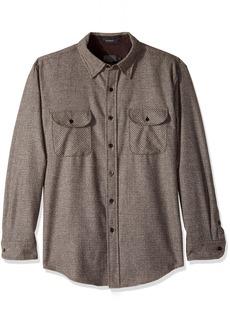 Pendleton Men's Long Sleeve Button Front Fitted Marverick Merino Shirt  LG