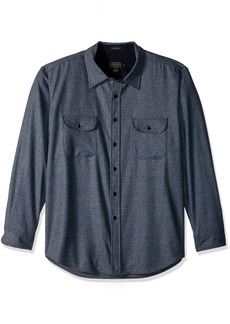 Pendleton Men's Long Sleeve Button Front Fitted Marverick Merino Shirt  SM