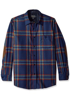 Pendleton Men's Long Sleeve Button Front Fitted Trail Shirt  MD