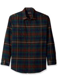 Pendleton Men's Long Sleeve Button Front Hawthorne Flannel Shirt  XXL