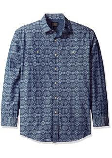 Pendleton Men's Long Sleeve Chambray Jacquard Shirt