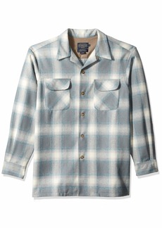 Pendleton Men's Long Sleeve Classic-fit Board Shirt surf Blue Mix/Grey Ombre MD