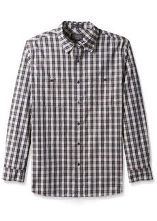Pendleton Men's Long Sleeve Fitted Kay Street Shirt Navy/Cream Space dye Plaid LG