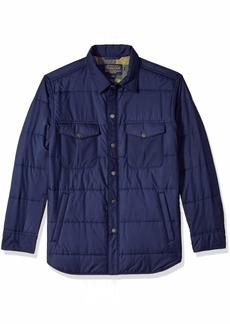 Pendleton Men's Long Sleeve Lightweight Quilted Shirt Jacket  SM