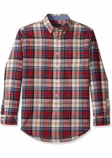 Pendleton Men's Long Sleeve Madras Shirt Blue/red/Ivory Plaid XL