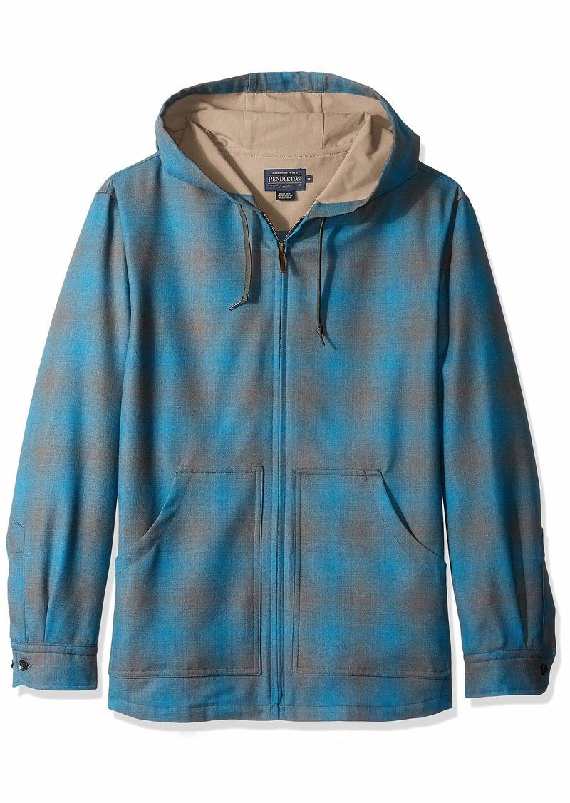 Pendleton Men's Long Sleeve Zip Up Wool Hoody  LG