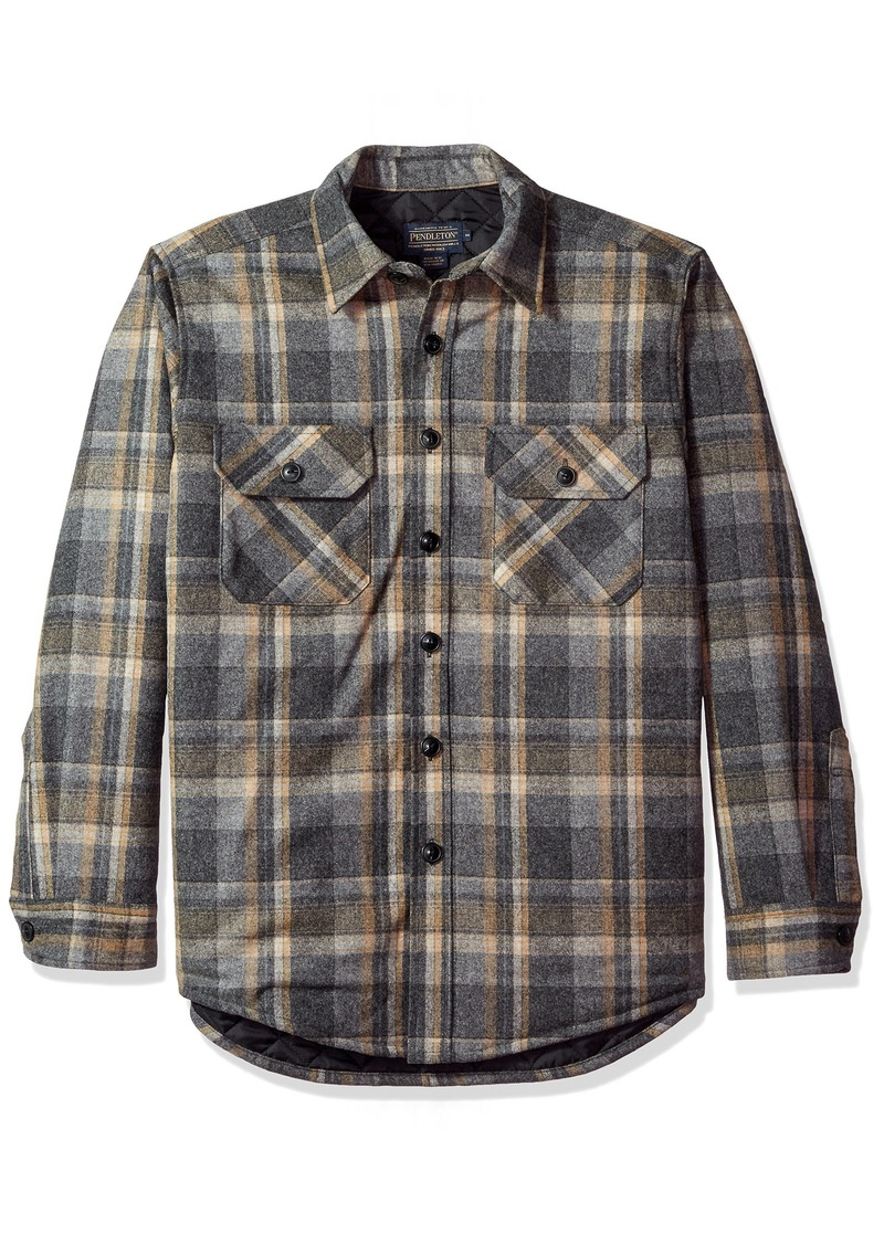 d3ca4c557cd597 Pendleton Pendleton Men's Quilted CPO Wool Shirt SM | Casual Shirts
