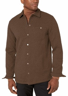 Pendleton Men's Quilted Knit Shirt Jacket  Brown Heather MD