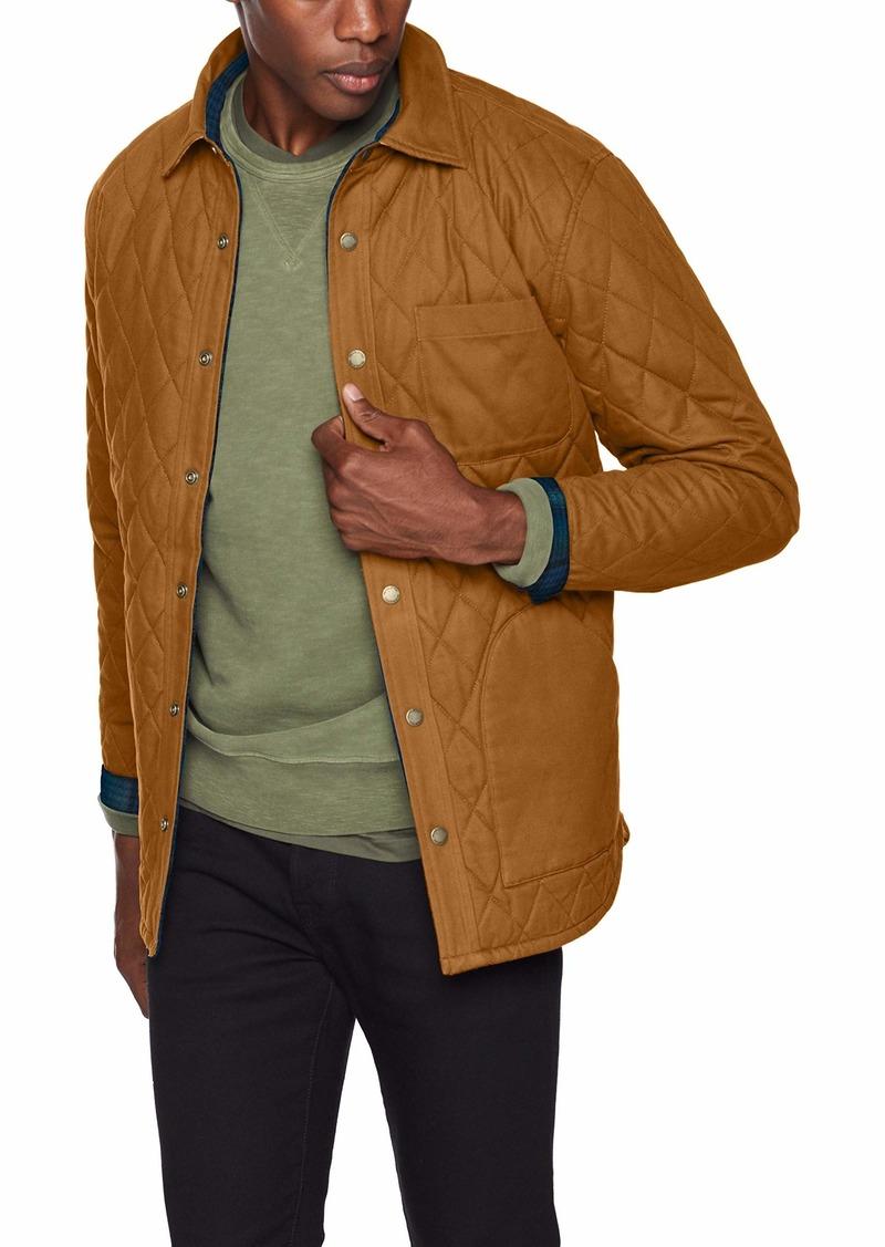 Pendleton Men's Reversible Jacket tan Canvas Blue Teal Ombre XXL