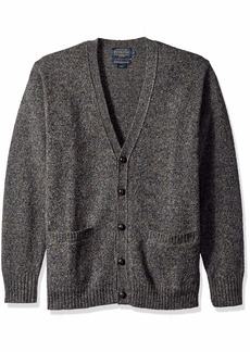 Pendleton Men's Shetlland Cardigan Sweater Midnight camo XL