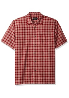 Pendleton Men's Short Sleeve Bonneville Outdoor Shirt Poppy red Plaid MD