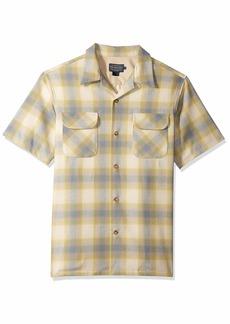 Pendleton Men's Short Sleeve Button Front Board Shirt surf Green/tan Ombre XL
