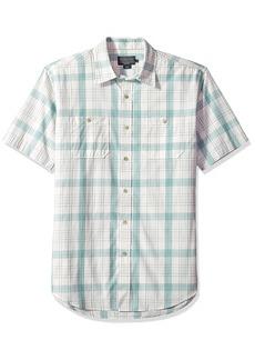 Pendleton Men's Short Sleeve Button Front Clear Lake Shirt  LG