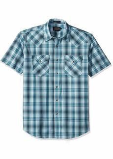 Pendleton Men's Short Sleeve Button Front Frontier Shirt  LG