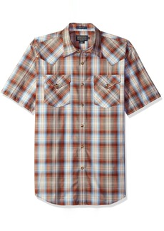 Pendleton Men's Short Sleeve Button Front Frontier Shirt  SM