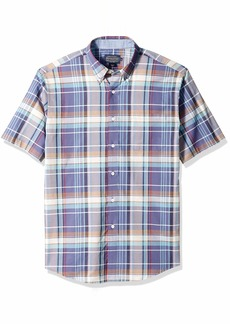 Pendleton Men's Short Sleeve Button Front Seaside Shirt  XL