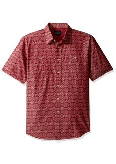 Pendleton Men's Short Sleeve Chambray Jacquard Shirt