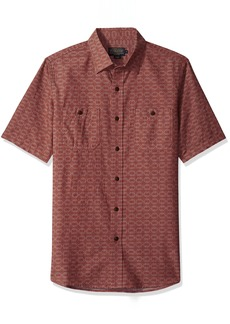 Pendleton Men's Short Sleeve Fitted Chambray Shirt  LG