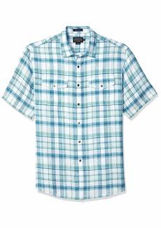 Pendleton Men's Short Sleeve Malone Linen Shirt  SM