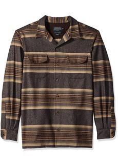 Pendleton Men's Tall Size Big & Tall Long Sleeve Board Shirt Navy/tan/Blue Stripe LG
