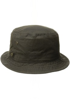 Pendleton Men's Waxed Cotton Bucket Hat Brown with Ranger Plaid Lining