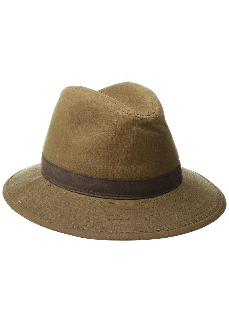 35dab1677147b Pendleton Pendleton Men s Waxed Cotton Hat Brown with Ranger Plaid ...