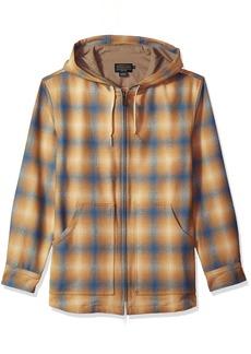 Pendleton Men's Wool Hoody tan/Blue Ombre LG
