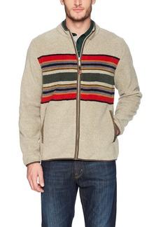 Pendleton Men's Zip-Front Camp Stripe Fleece Jacket  LG