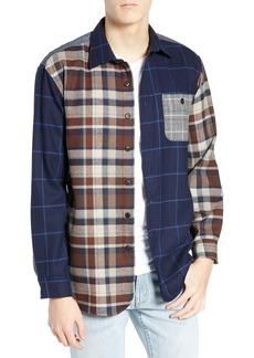 Pendleton Pattern Block Wool Sport Shirt
