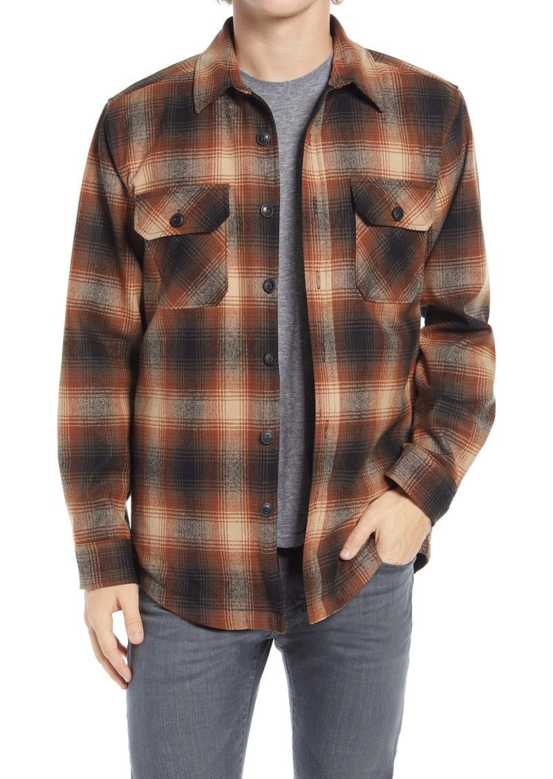 Pendleton Plaid Regular Fit Wool Flannel Shirt Jacket
