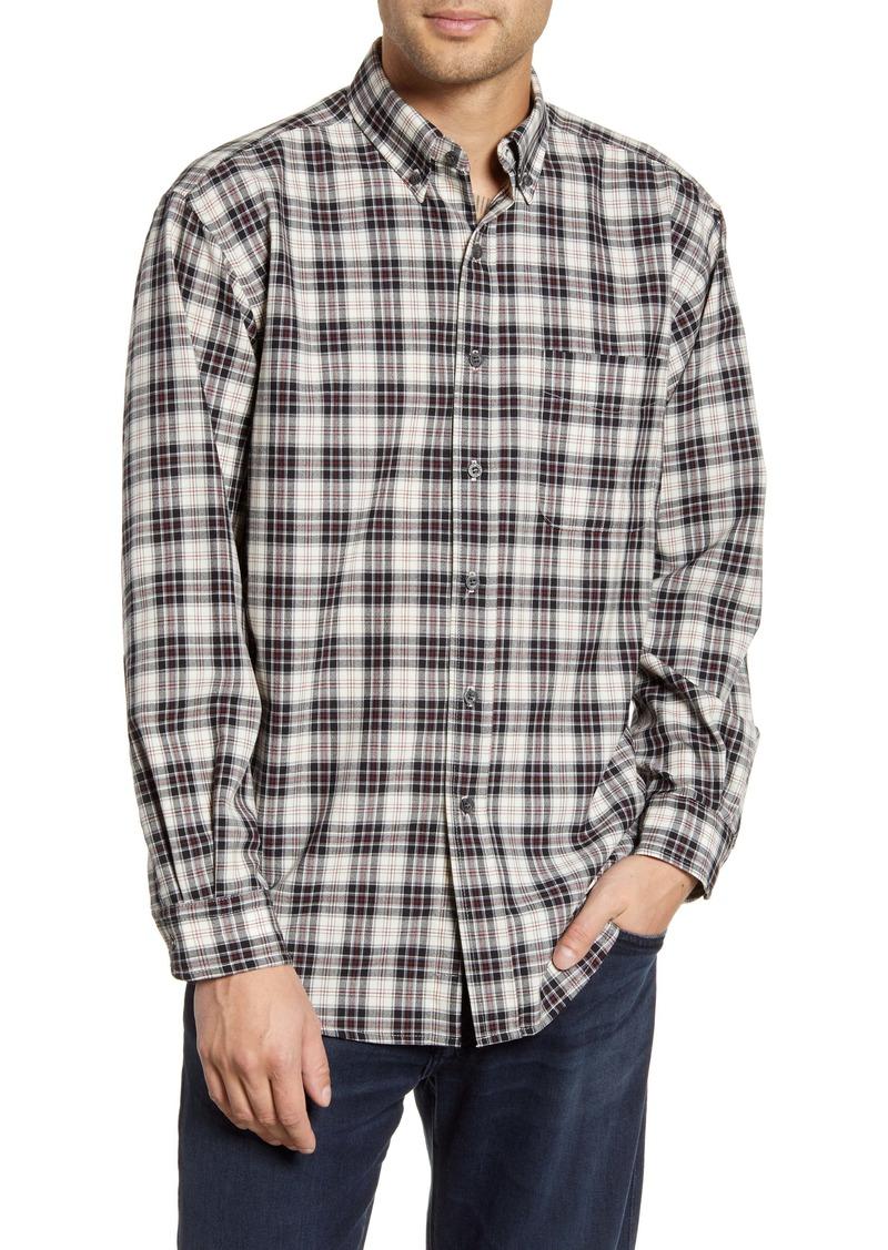 Pendleton Regular Fit Plaid Wool Button-Down Shirt