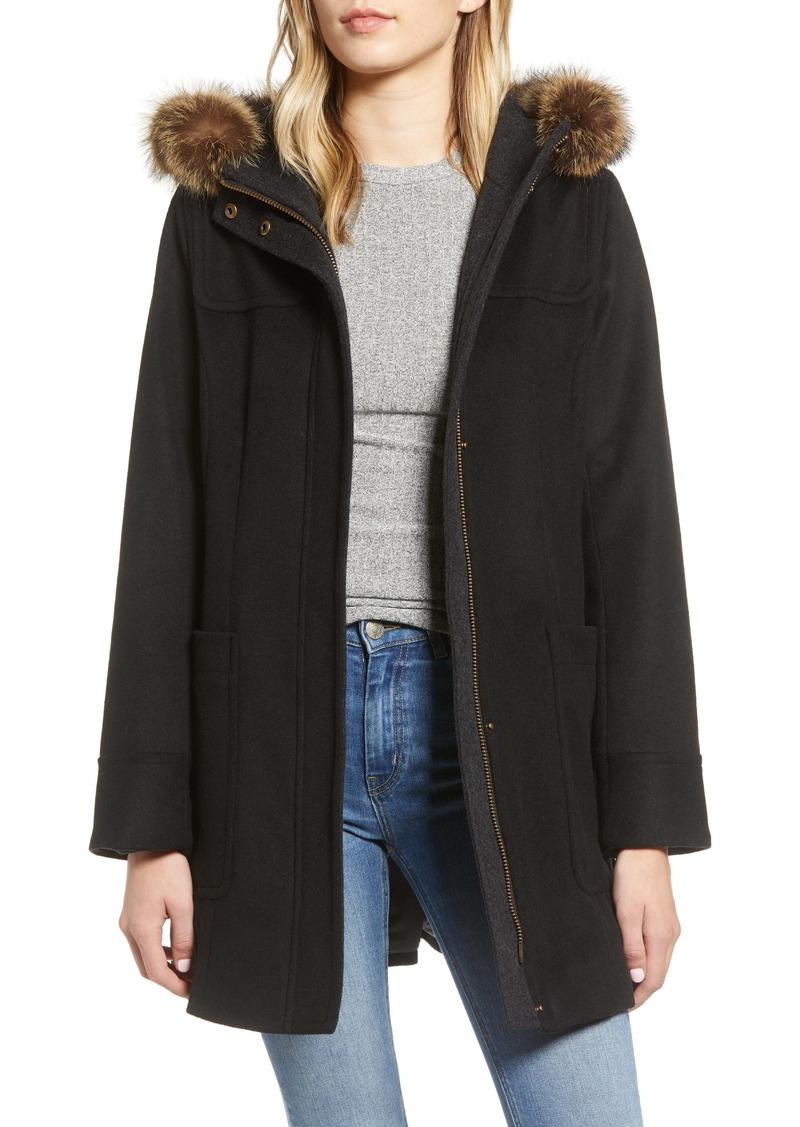 Pendleton Salem Genuine Raccoon Fur Trim Waterproof Duffle Coat