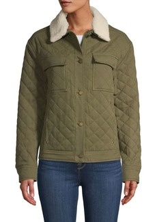 Pendleton Sidney Faux Fur Collar Quilted Barn Jacket