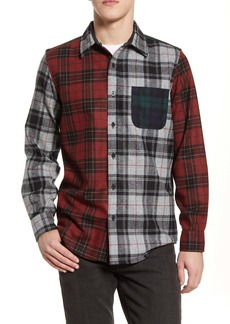 Pendleton the Mixed Plaid Button-Up Wool Flannel Shirt