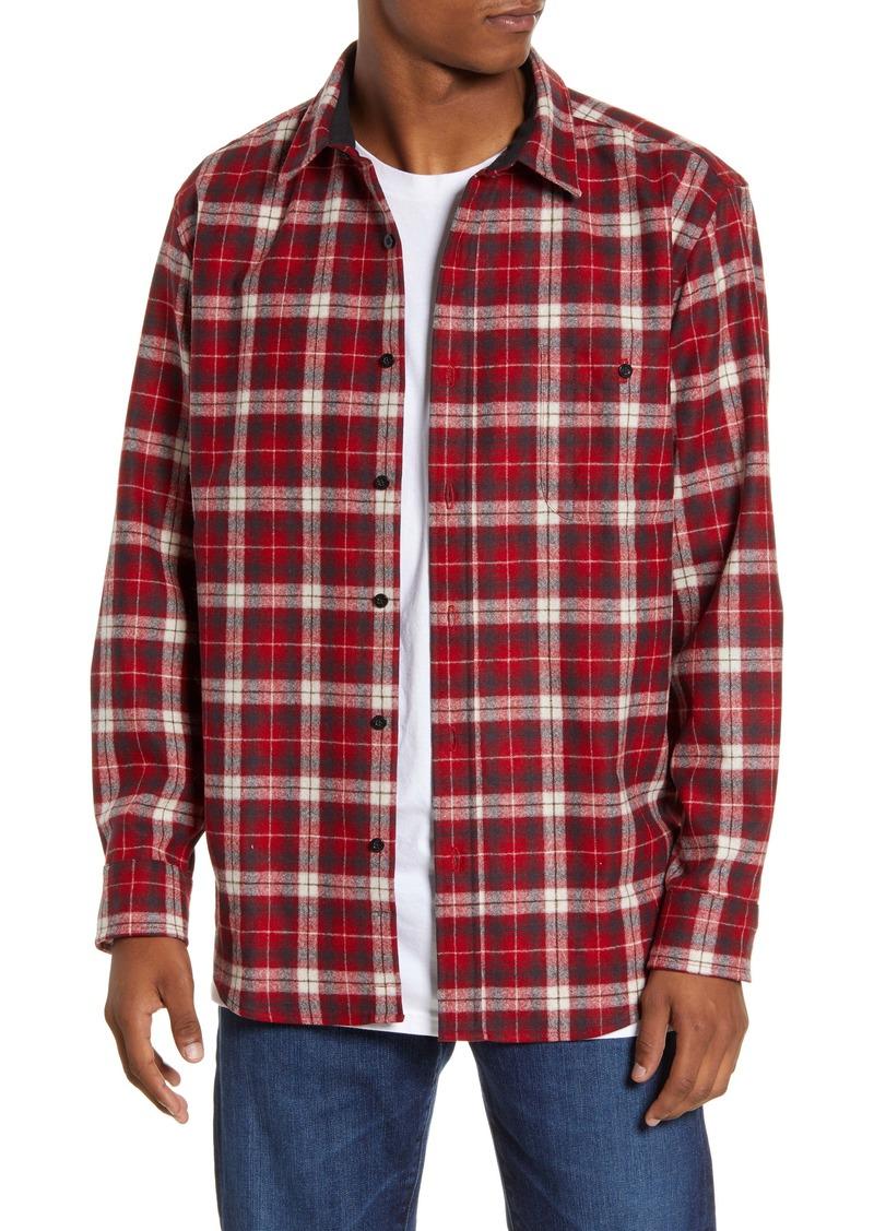 Pendleton Trail Regular Fit Plaid Wool Button-Up Shirt