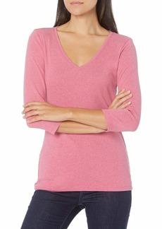 Pendleton Women's 3/4-Sleeve V-Neck Cotton Rib Tee