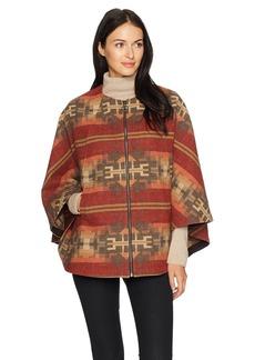 Pendleton Women's Aurora Wool Jacquard Zip Front Cape  XS/S