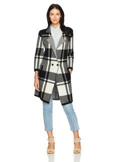 Pendleton Women's Block Plaid Merino Wool Coatigan Sweater  L