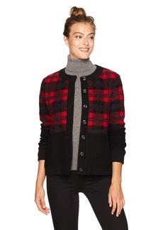 Pendleton Women's Boiled Wool Plaid Bomber Jacket  LG