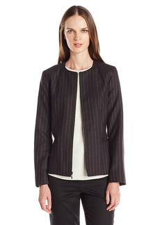 Pendleton Women's Bridget Jacket Oxford Mix/Camel WF Pinstripe